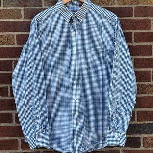 IZOD Men's LS Button Down Shirt Plaid Lg slim fit